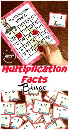 These fun multiplications games are a wonderful way for children to practice their multiplication facts. The children solve multiplication expressions and cover them up on their game board. Multiplication & Division for Kids Math Resources, Math Activities, Division Activities, Fun Multiplication Games, Math Fractions, Math Board Games, Fun Games, Homeschool Math, Homeschooling