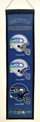 "Seattle Seahawks Wool Heritage Banner - 8""x32"""