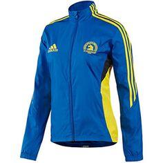 """adidas Boston Marathon 2013 Official Jacket - Women's """"Prime Blue / Vivid Yellow"""""""