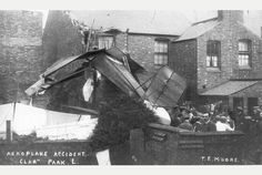 Picture of the day: Plane crash in Leicester, several chickens killed Picture Day, Leicester, Vintage Photos, Plane, Aircraft, History, Pictures, Travel, Photos