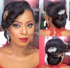 Black Brides Hairstyles, Twist Hairstyles, Bride Hairstyles, Black Bridal Makeup, Wedding Hair And Makeup, Professional Natural Hairstyles, Bridal Updo, Updos, Marie
