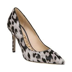 Sam Edelman Women's Hazel Pointed Toe Stiletto Heel Pump, Size: 7 M US, Grey Leopard Leather Pointed Toe Pumps, Stiletto Heels, Stilettos, Sam Edelman Heels, Leopard Heels, Crazy Shoes, Women's Pumps, Leather Heels, Kitten Heels
