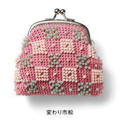 beaded crochet purse