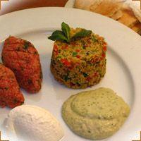Tabbouleh  Kibbeh nayeh, Hummus