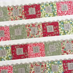 #christmascheeradventcalendar pockets all sewn with these Liberty fabrics - Thanks to @tiedwitharibbon! #myliberty