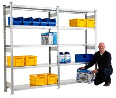 Garage shelves - galvanised