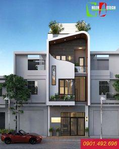 Zitate, um ein Haus zu bauen, ein Pakethaus in Ho Chi Minh Stadt zu bauen, ein Pakethaus zu bauen. House Outer Design, Modern Small House Design, Bungalow House Design, House Front Design, Modern Bungalow, Small House Exteriors, Modern Exterior House Designs, Modern Architecture House, Architecture Design
