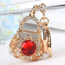 Crystal Handbag Purse Key Chain W Fob Handbags Purses Charms Crystals