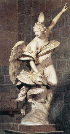 Anjo da anunciação, 1608, Francesco Mochi (1580-1654), mármore, Museo dell'Opera del Duomo, Orvieto. Share this: