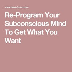 Is your subconscious mind sabotaging your success? Here are 5 steps to reprogram your subconscious mind to get anything you want. Positive Life, Positive Thoughts, Feeling Stuck, How Are You Feeling, Get What You Want, How To Get, Subconscious Mind Power, Learn Hypnosis, Mind Over Matter