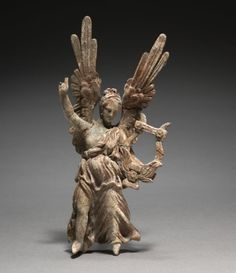Winged Figurine  3rd-1st Century BC  Greece, Myrina, Hellenistic period  Terracotta