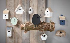Wie wordt er nou niet blij van fluitende vogels in de tuin? Geef ze een mooi plekje in de tuin met deze vrolijke huisjes. Wat een geluksvogels :-)! #vogelhuisje #tuin #kwantum #lente #voorjaar