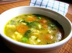 Rozpustíme tuk, přidáme dětskou krupičku a opražíme do světle nažloutlé ba. Soup Recipes, Snack Recipes, Cooking Recipes, Czech Recipes, Detox Soup, What To Cook, Food 52, Soups And Stews, No Cook Meals