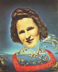Portrait de Gala avec symptômes rhinocérontiques, 1954, huile de Salvador Dali (1904-1989, Spain)