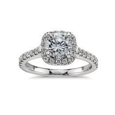 1/3 ct. tw. Engagement Ring in 14k White Gold Plated Over Sterling Silver