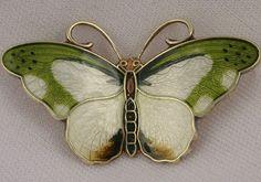 Vintage Hroar Prydz Norway Scandinavian Sterling Silver Enamel Butterfly Pin | eBay