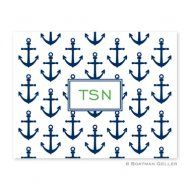 Anchors Navy Foldover Notes