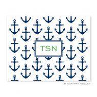 Anchors Navy Foldover Notes