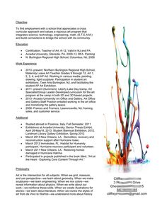 A Resume for the Modern Art Teacher | Art Ed | Pinterest | Modern ...