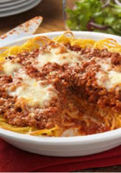 Family-Favorite Spaghetti Pie -- The name says is all! This tasty dish is sure to please everyone in your family. Serve with a crisp mixed green salad to round out the meal.
