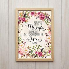 Dich Als Oma Haben Großmutter Spruch Shabby Chic Kunstdruck DIN A4  Liebevoll designter Kunstdruck in Din A4 Format auf hochwertigem 200g/m² Spezial-Papier.  Unsere Kunstdrucke sind nicht...