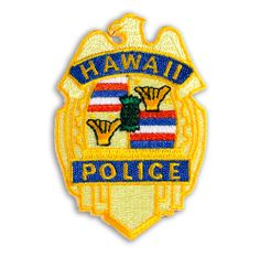 Buns Of Maui - Hawaiian Iron-On Embroidery Applique Patch Hawaii Police, $6.49 (http://www.bunsofmaui.net/hawaiian-patch-collection-hawaii-police/)