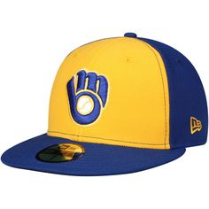 on sale 8a417 9abac Men s Milwaukee Brewers New Era Yellow Blue 2018 Players  Weekend On-Field  59FIFTY Fitted Hat, Your Price   35.99   Milwaukee Brewers Caps   Hats in  2018 ...