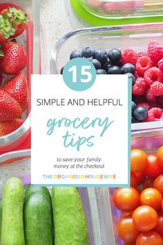 Do you ever feel like your weekly grocery bill is starting to spiral out of control? I've got 15 helpful tips to save you money on your next grocery shop! Summer Salad Recipes, Lunch Box Recipes, In Season Produce, Fruit In Season, Save Money On Groceries, Save Your Money, Pantry Inspiration, Block Of Cheese, Organised Housewife