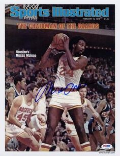 Moses Malone SIGNED Sports Illustrated Print Rockets AUTOGRAPHED - PSA/DNA Certified - Autographed NBA Magazines ** Details can be found by clicking on the image.