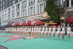 Waving to everyone at home! Rockettes