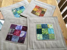 Pot Holders, Miniatures, Quilts, Blanket, Fabric, Tejido, Tela, Hot Pads, Potholders