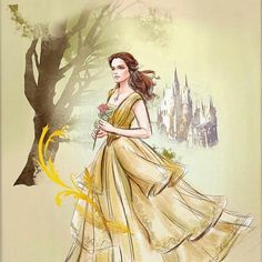 I'm so happy that belle got to wear the yellow dress while she went to save her father because it shows that she immediately went to save her dad and didn't consider changing what she's wearing Disney Time, Cute Disney, Disney Magic, Disney Movies, Disney 2017, Disney Stuff, Beauty And The Beast Art, Disney Princess Belle, Fanart