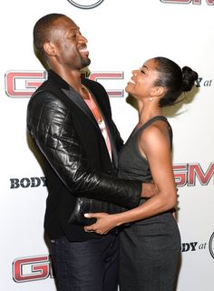 Gabrielle Union and Dwayne Wade shared a laugh on the red carpet at an ESPN event held in LA in July 2013.