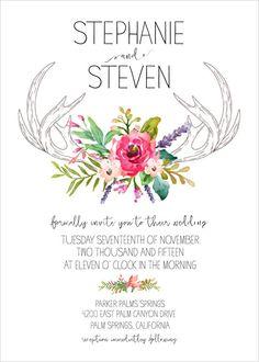 antler invitation free printable @weddingchicks