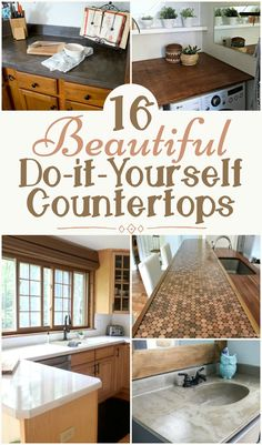 Kitchen Countertop Ideas On A Budget Lovely 16 Beautiful and Affordable Do It Yourself Countertops Cheap Kitchen Islands, Cheap Kitchen Countertops, Diy Wood Countertops, Countertop Makeover, Diy Kitchen Island, Kitchen Redo, Kitchen Remodel, Kitchen Ideas, Cheap Diy Home Decor