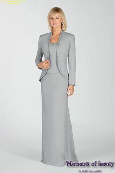 Country Bride Mother Dresses | ... Floor-Length Sheath Chiffon Mother of the Bride Dresses with Jacket