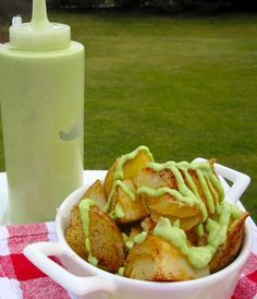 My Colombian food !!!!!  Papas con Salsa de Aguacate (Potatoes with Avocado Sauce)