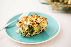 Whip up savory Feta Spinach Strata with this recipe.