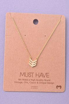 Mini Chevron Necklace