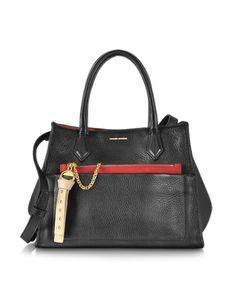 Sonia Rykiel Stephane Black Leather Handbag- $865 on Forzieri