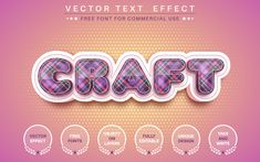 3D craft - Editable Text Effect, Font Style Graphic Illustration