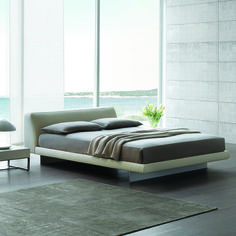 Feng's sensual forms and classic design make this bed the perfect fit for your contemporary master bedroom.