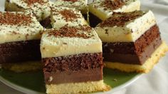 Chocolate Covered Cheesecake Bites- instead of cheesecake do marshmallows and it would be s'mores bites Hungarian Desserts, Hungarian Recipes, Cake Bars, Dessert Bars, Sweets Recipes, Cookie Recipes, Layered Desserts, Square Cakes, Sweet Cookies