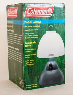 #onsalenow #ebay Coleman Table Lamp Model - 5370H190 Shatter resistant Shade - Batteries included #Coleman #hunters #outdoors $8.99
