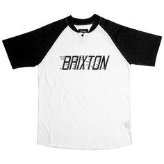 Brixton Rover Henley T-Shirt - White/Black