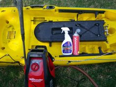 A few good tools and cleaning products, will help in the process of keeping your fishing kayak looking clean as new.