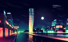 I like architecture by Romain Trystram, via Behance