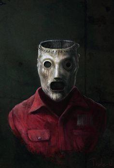 A portrait of Corey Taylors mask - Slipknot Corey Slipknot Tattoo, Slipknot Logo, Slipknot Band, Heavy Metal Art, Black Metal, Muro Rock, Slipknot Corey Taylor, Rock Band Posters, Joker Images