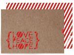 christmas cards...love me some diagonal stripes