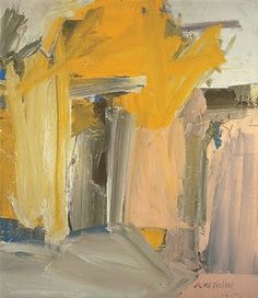 Yellow, greys and whisps of nude